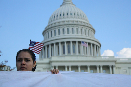 Immigration activists marched on the Capitol last October - Photo: Jelena Kopanka/Fi2W