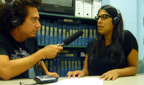 Daniel Alarcón reporting a story for Radio Ambulante