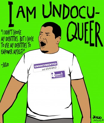 An image from Julio Salgado's Undocuqueer series