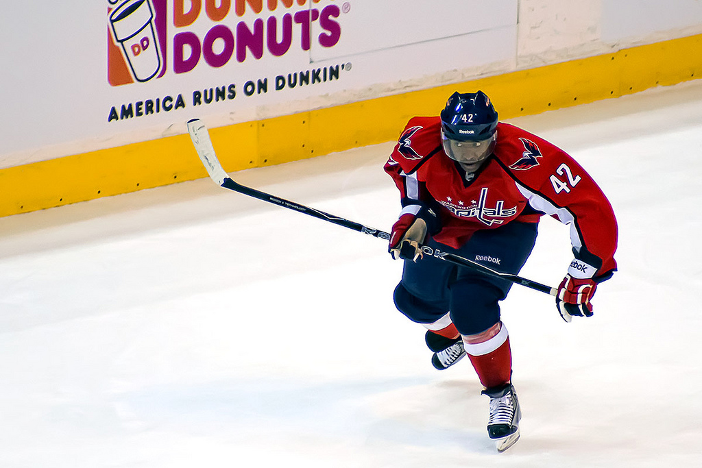 Joel Ward of the Washington Capitals