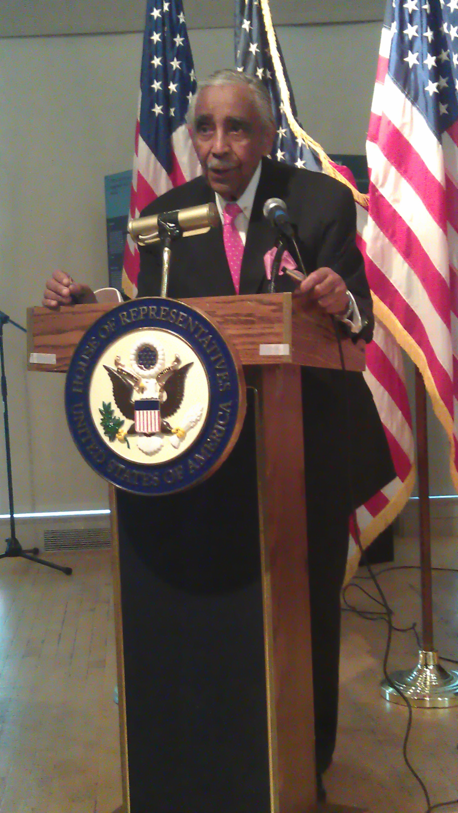 Congressman Charles Rangel at an event on June 11th.  (Photo: Justin Mitchell/Fi2W)