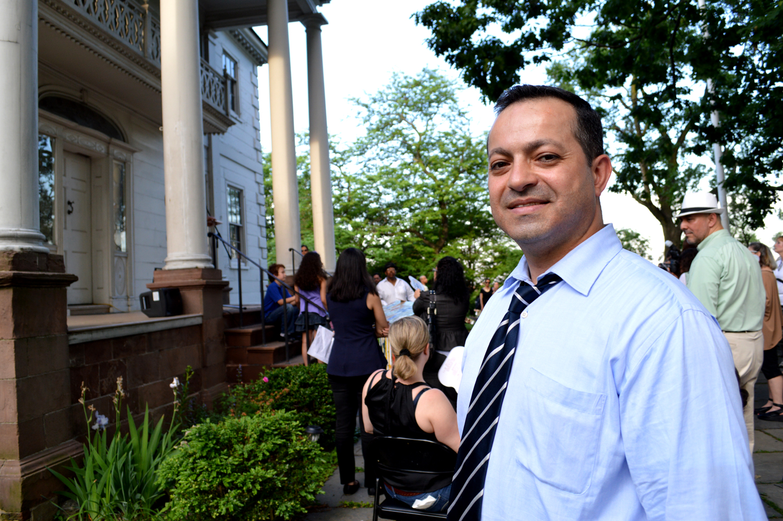 Zead Ramadan at a Northern Manhattan Arts Alliance event. (Photo: Von Diaz)