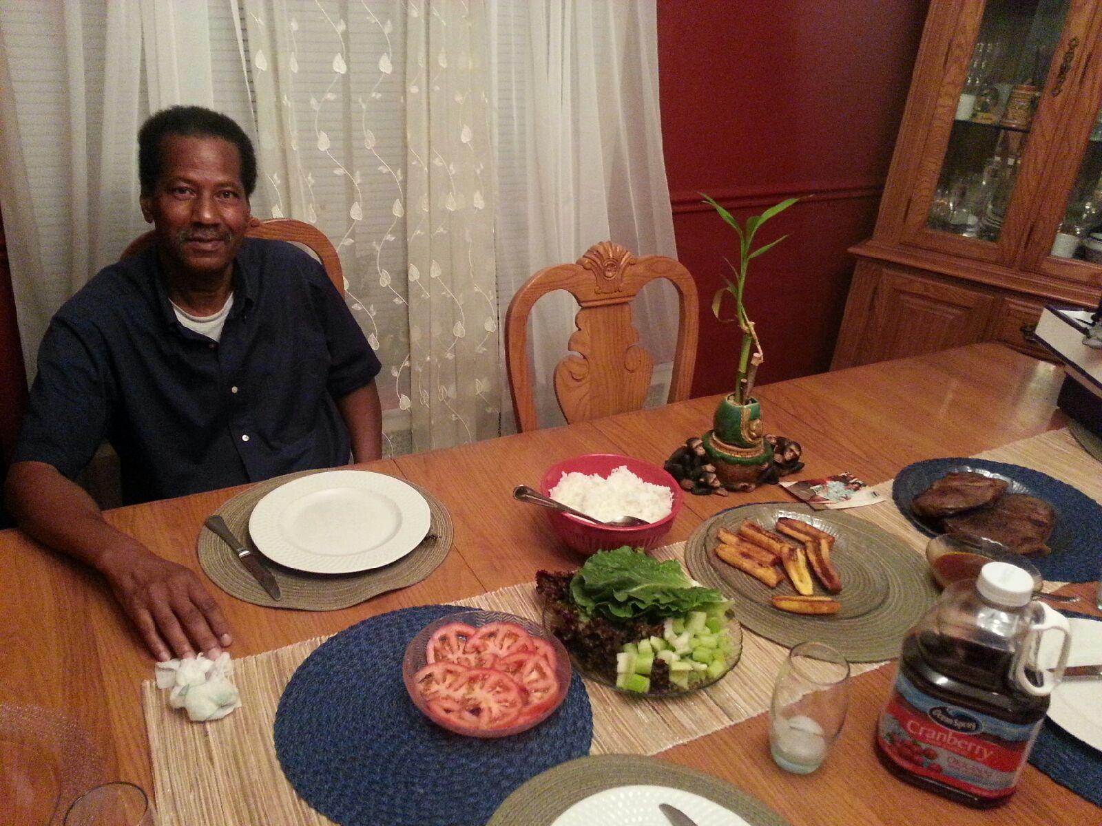 Audley Grocher with some of his culinary creations. (Kimberly Bonds)