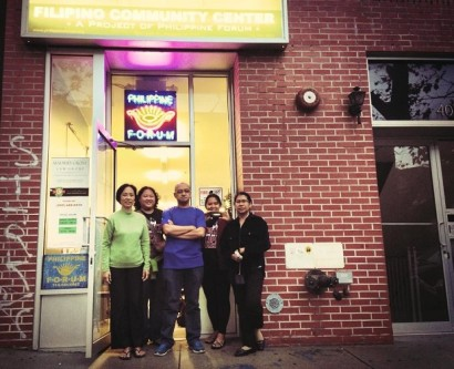 The Bayanihan Filipino Community Center in Woodside. Volunteer Jonna Baldres is second from left. (Photo:  Bayanihan Filipino Community Center)