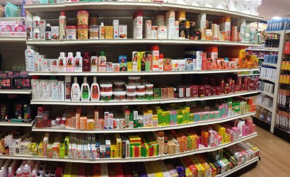 Skin-lightening products at a NYC beauty supply store. (Photo: Christina Berthaud)