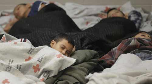 Children sleeping in detention facilities