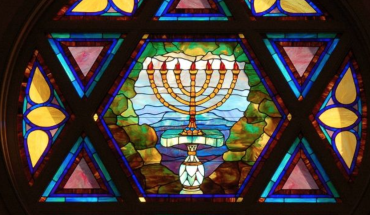 jewish temple window - wnyc