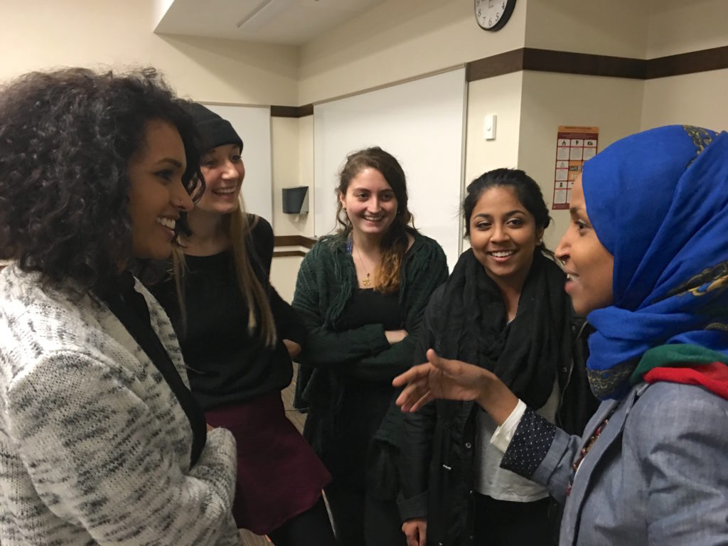 ilhan with students